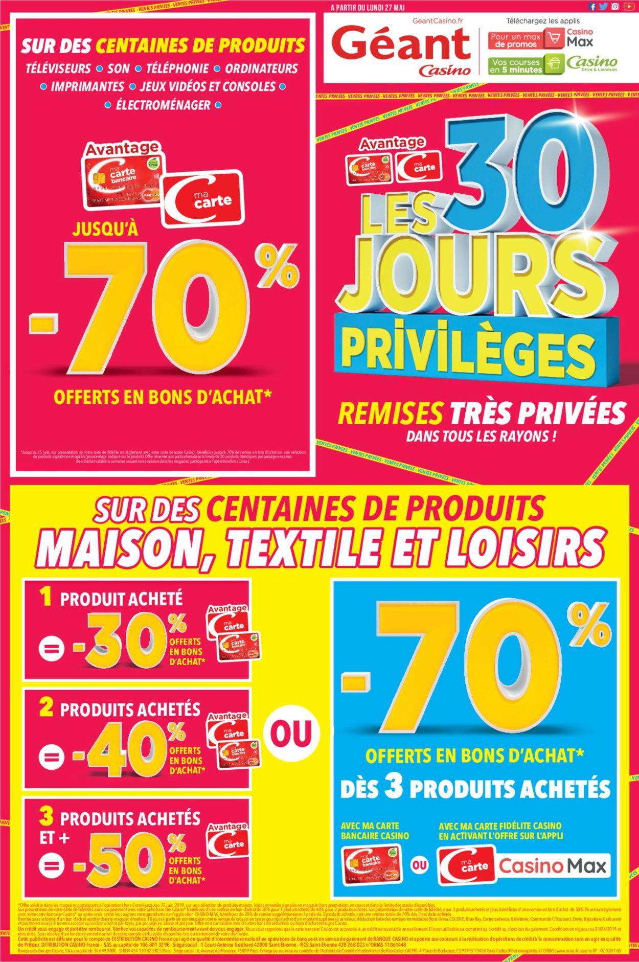 Géant Casino Catalogue - 27.05-25.06.2019
