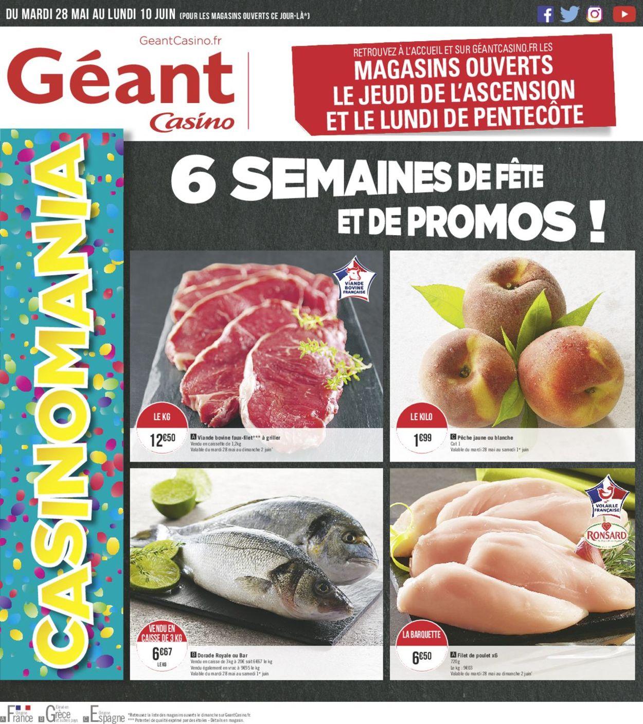 Géant Casino Catalogue - 28.05-10.06.2019