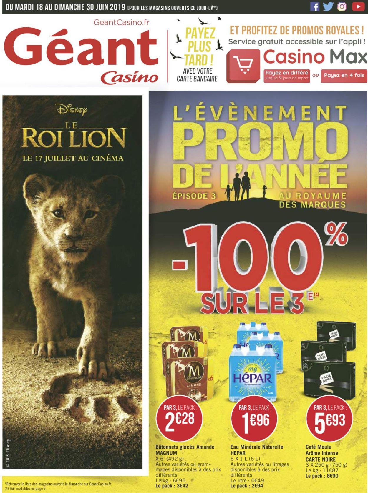 Géant Casino Catalogue - 18.06-30.06.2019