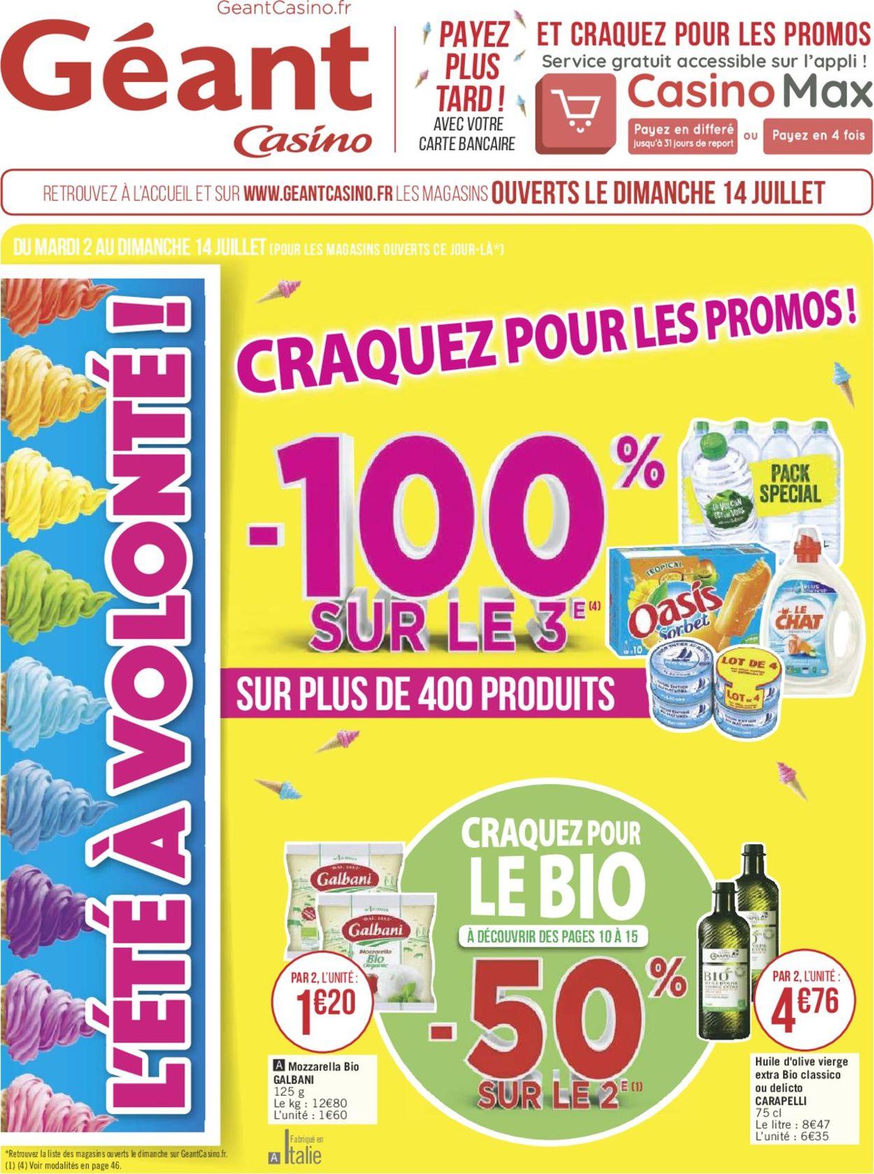 Géant Casino Catalogue - 02.07-14.07.2019