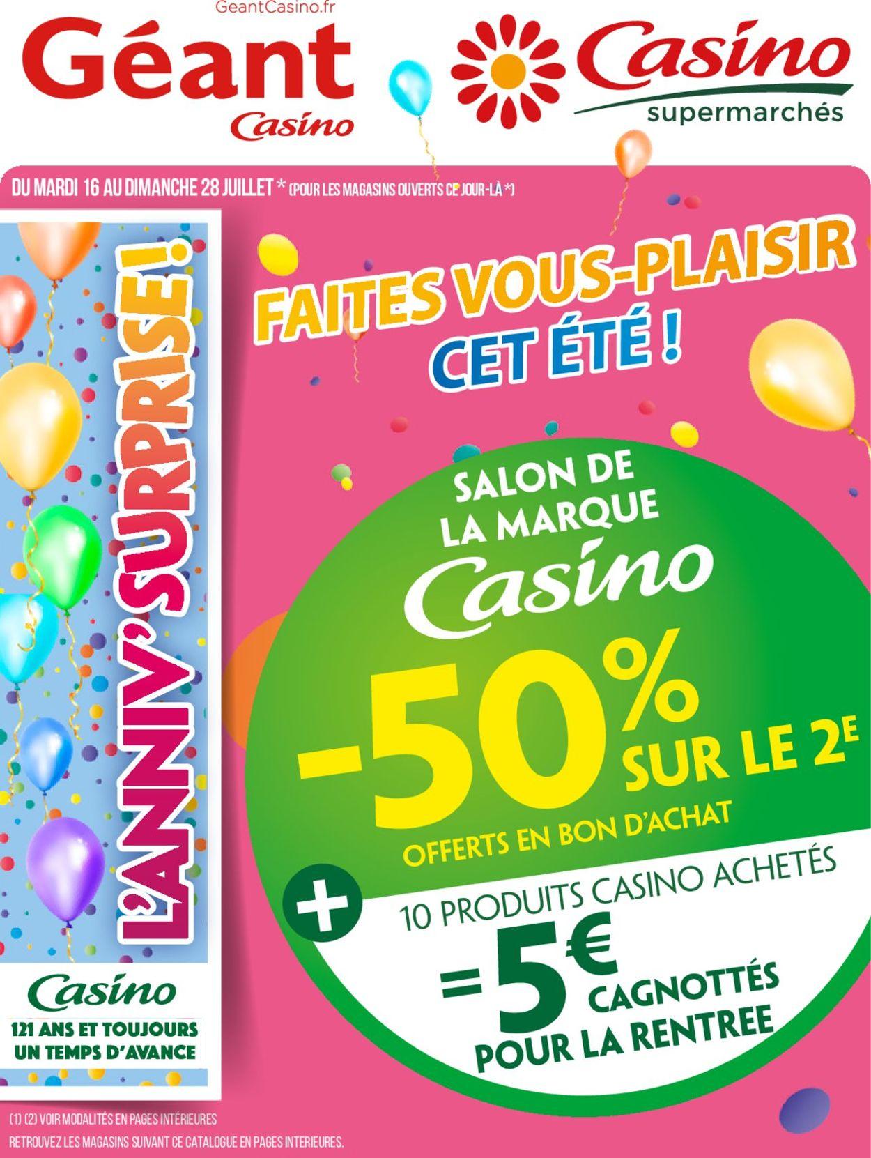 Géant Casino Catalogue - 16.07-28.07.2019
