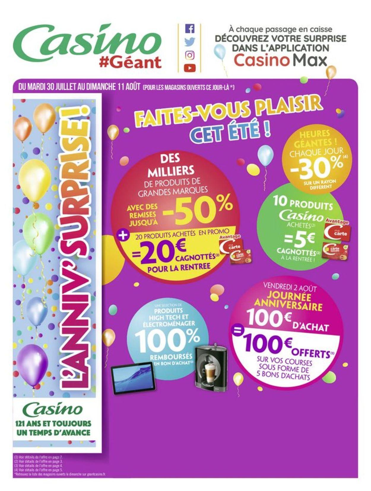 Géant Casino Catalogue - 30.07-11.08.2019