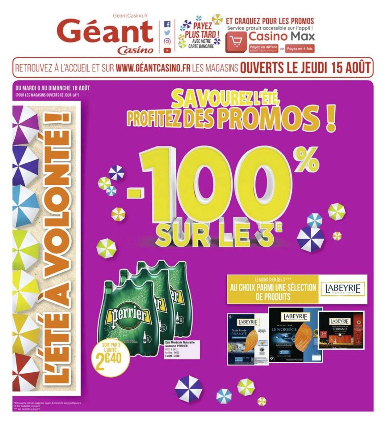 Géant Casino Catalogue - 06.08-18.08.2019