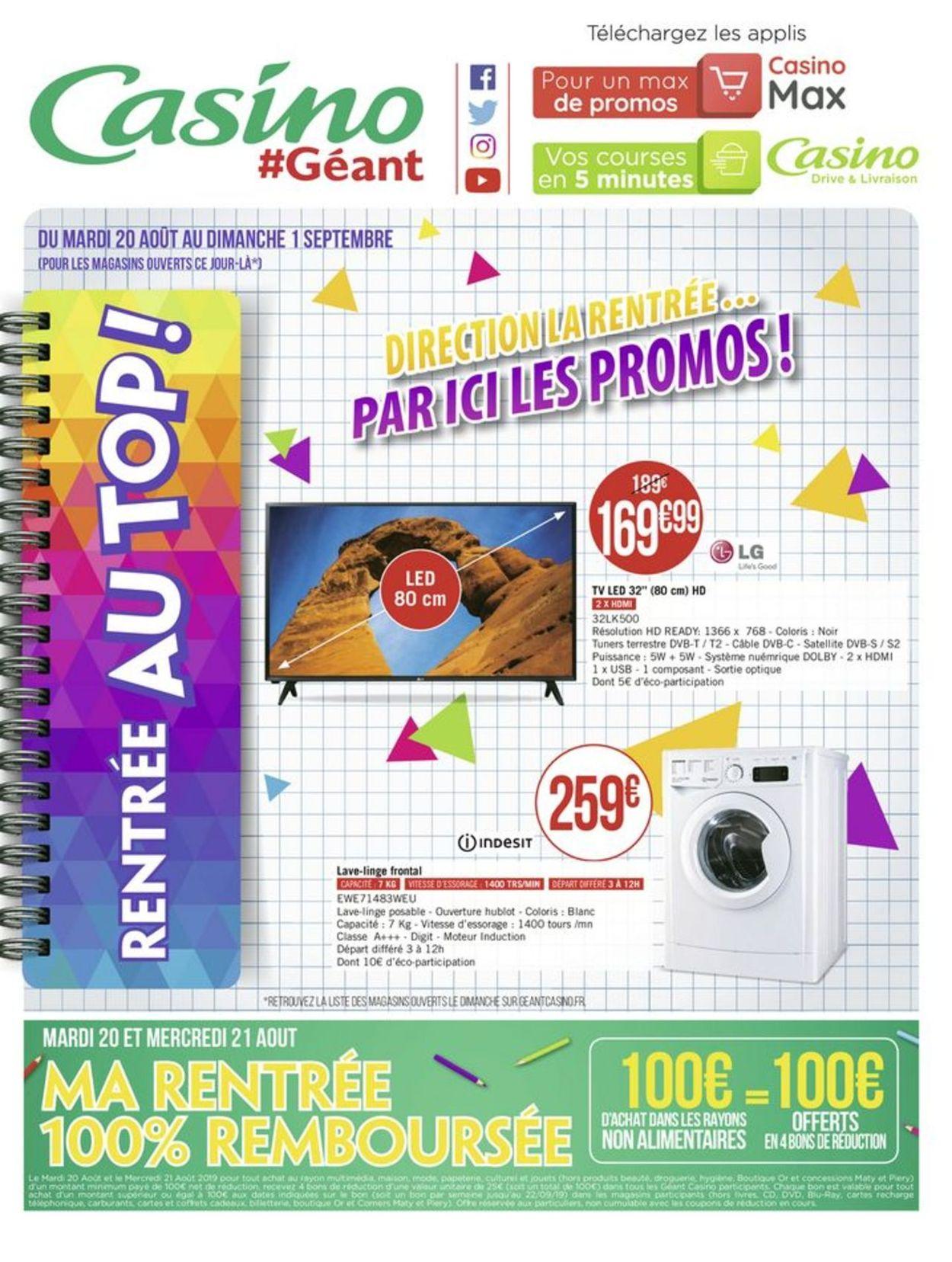 Géant Casino Catalogue - 19.08-01.09.2019 (Page 72)