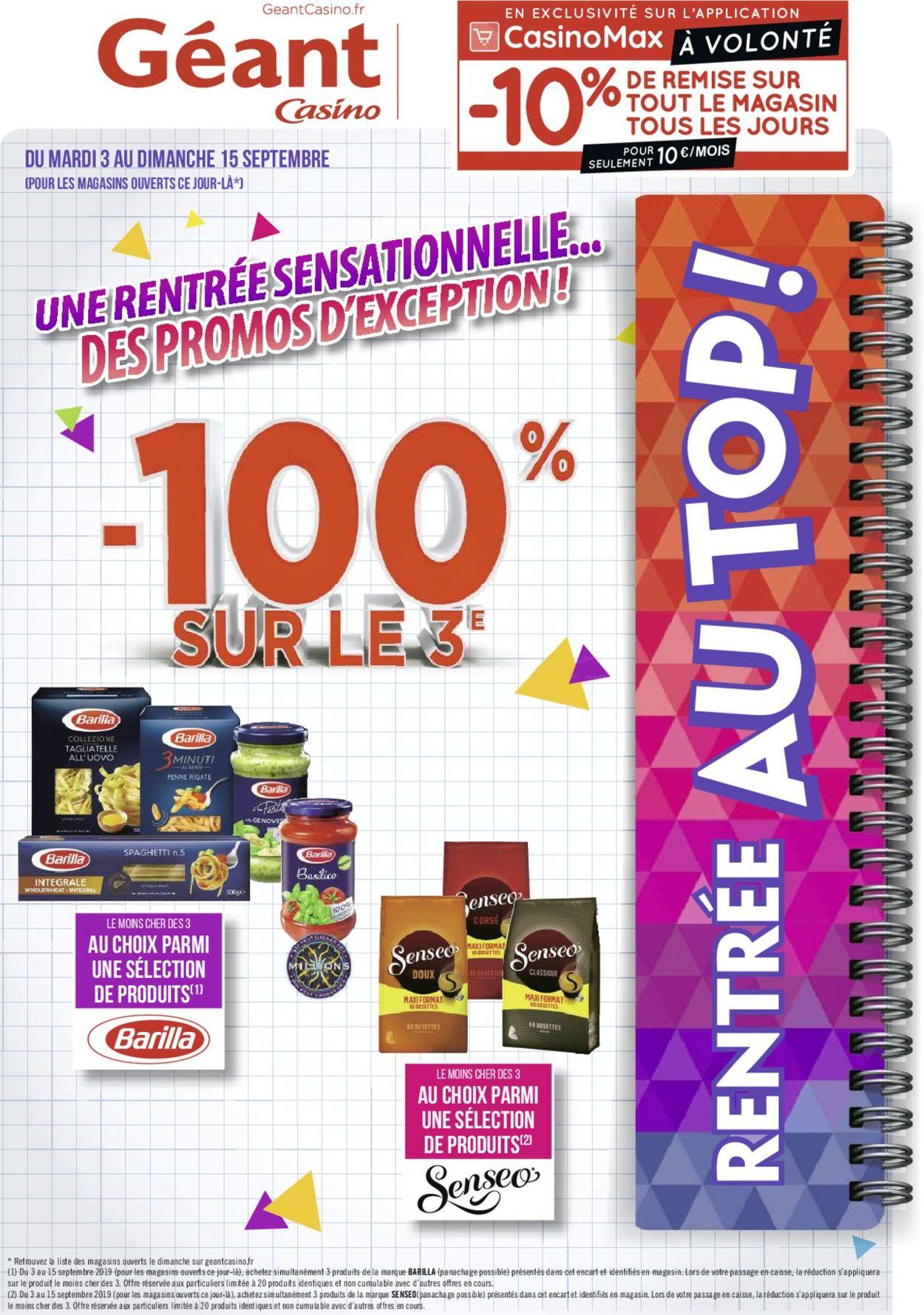 Géant Casino Catalogue - 03.09-15.09.2019