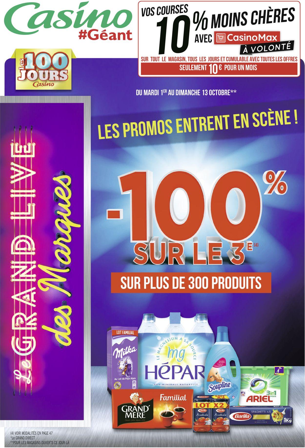 Géant Casino Catalogue - 01.10-13.10.2019