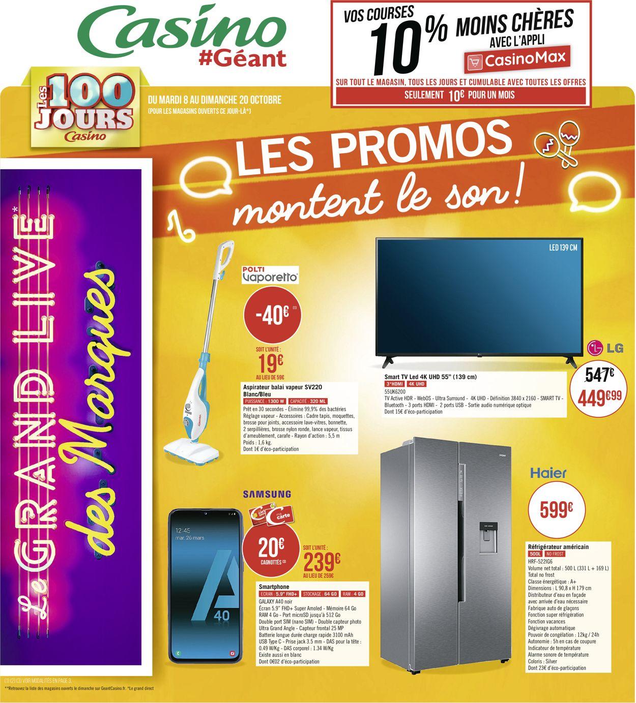 Géant Casino Catalogue - 08.10-20.10.2019