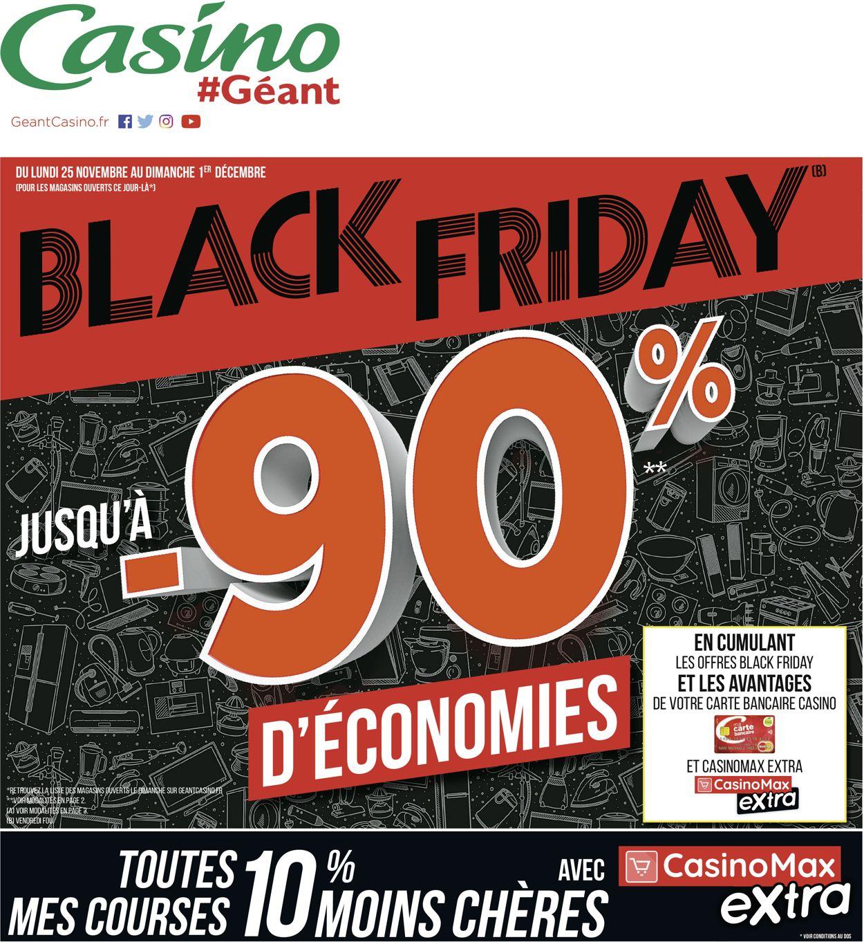 Géant Casino BLACK FRIDAY 2019 Catalogue - 25.11-01.12.2019