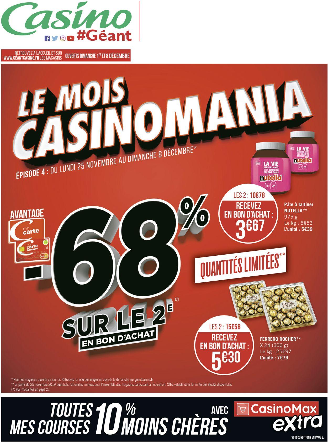 Géant Casino Catalogue - 25.11-08.12.2019