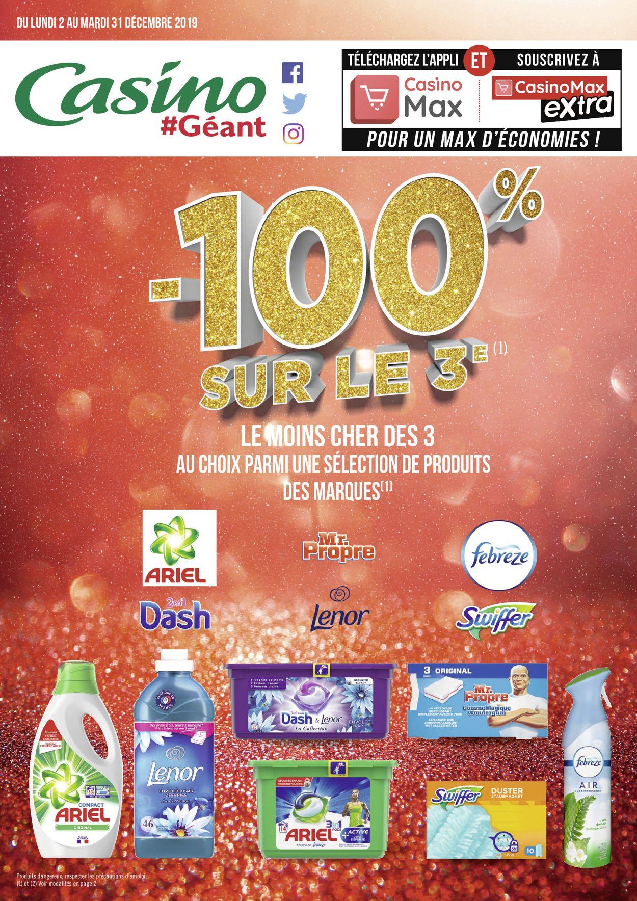 Géant Casino catalogue de Noël 2019 Catalogue - 02.12-31.12.2019