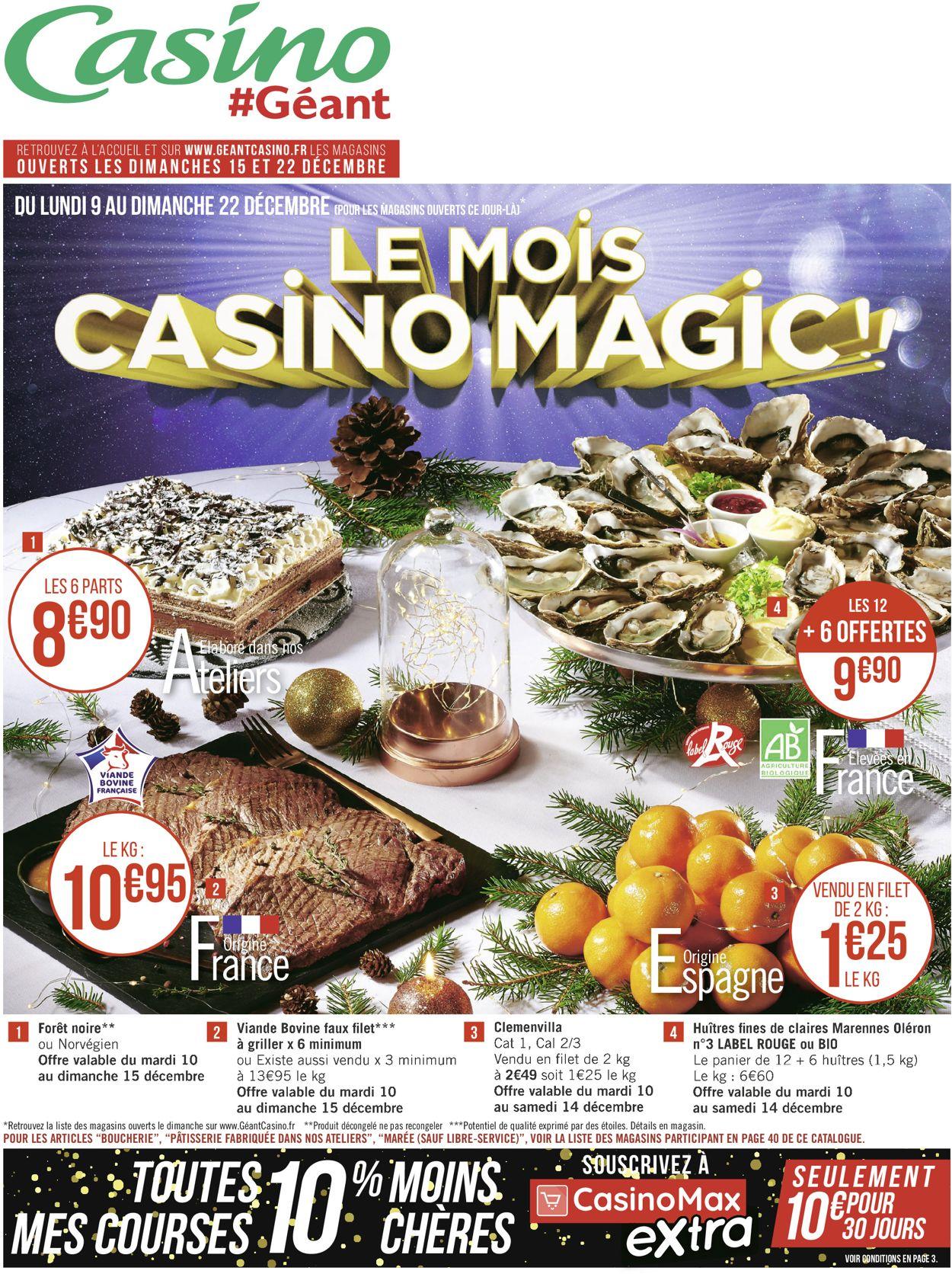 Géant Casino catalogue de Noël 2019 Catalogue - 09.12-22.12.2019