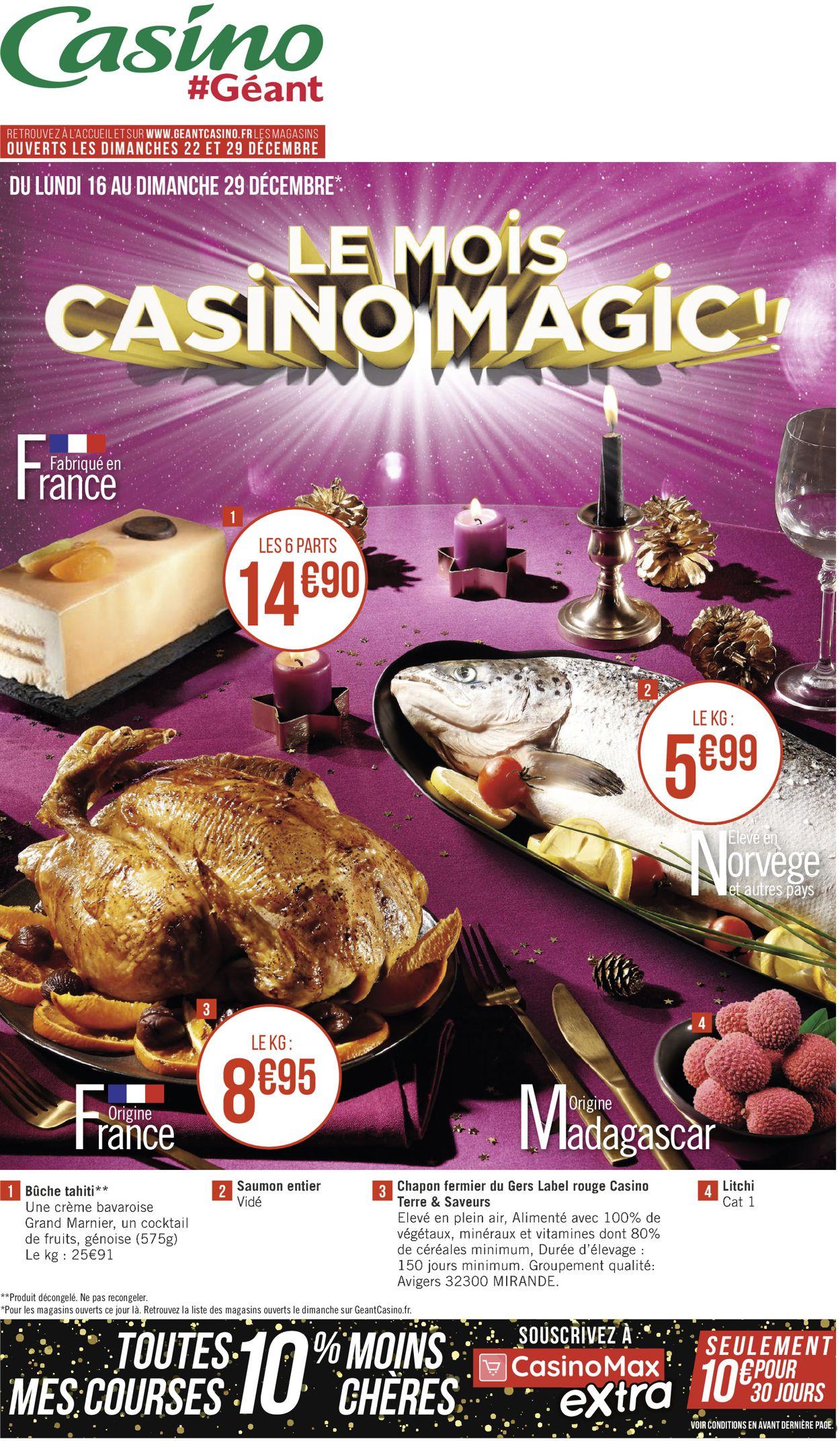 Géant Casino catalogue de Noël 2019 Catalogue - 16.12-29.12.2019