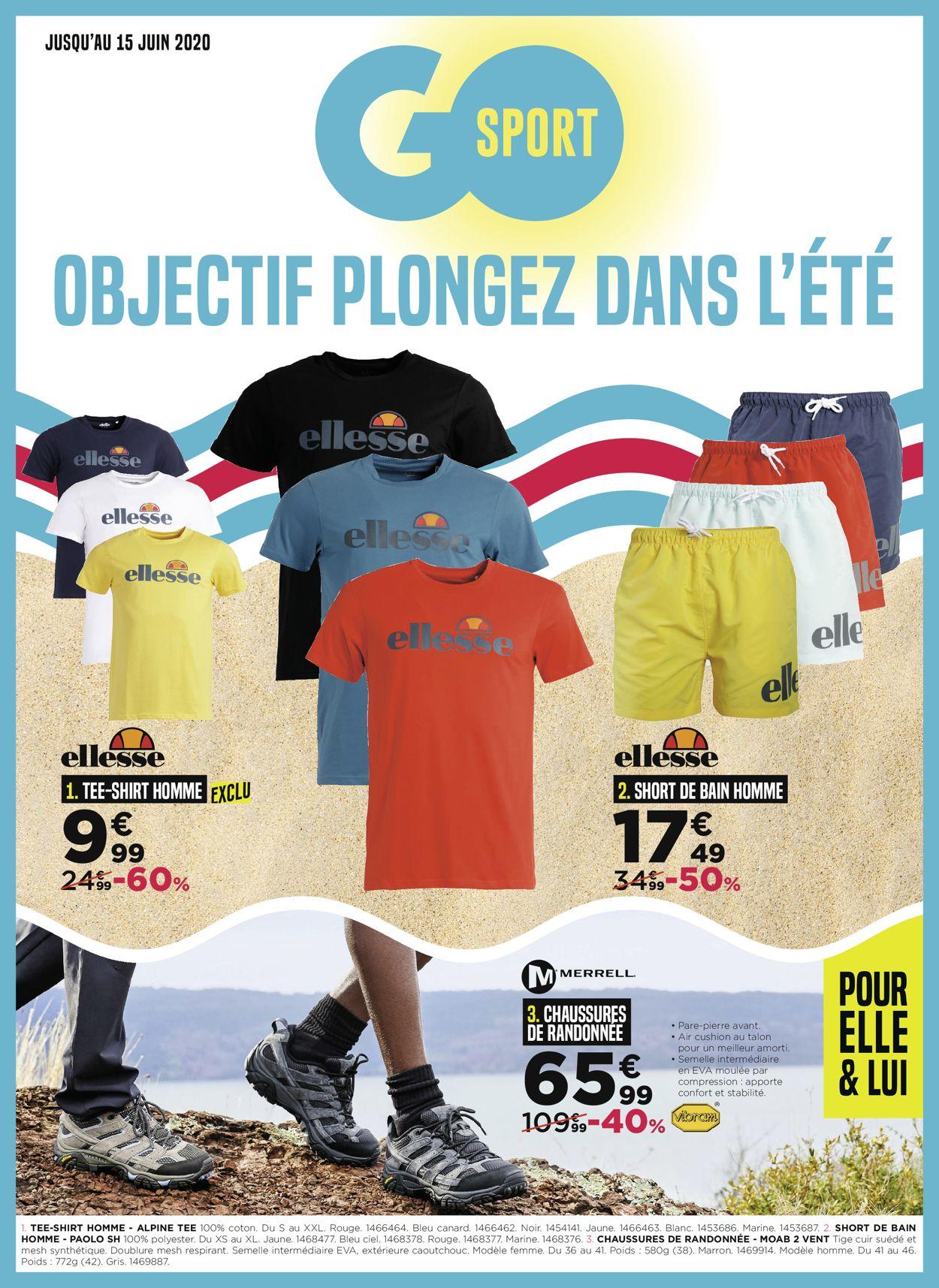 Go Sport Catalogue - 03.06-15.06.2020