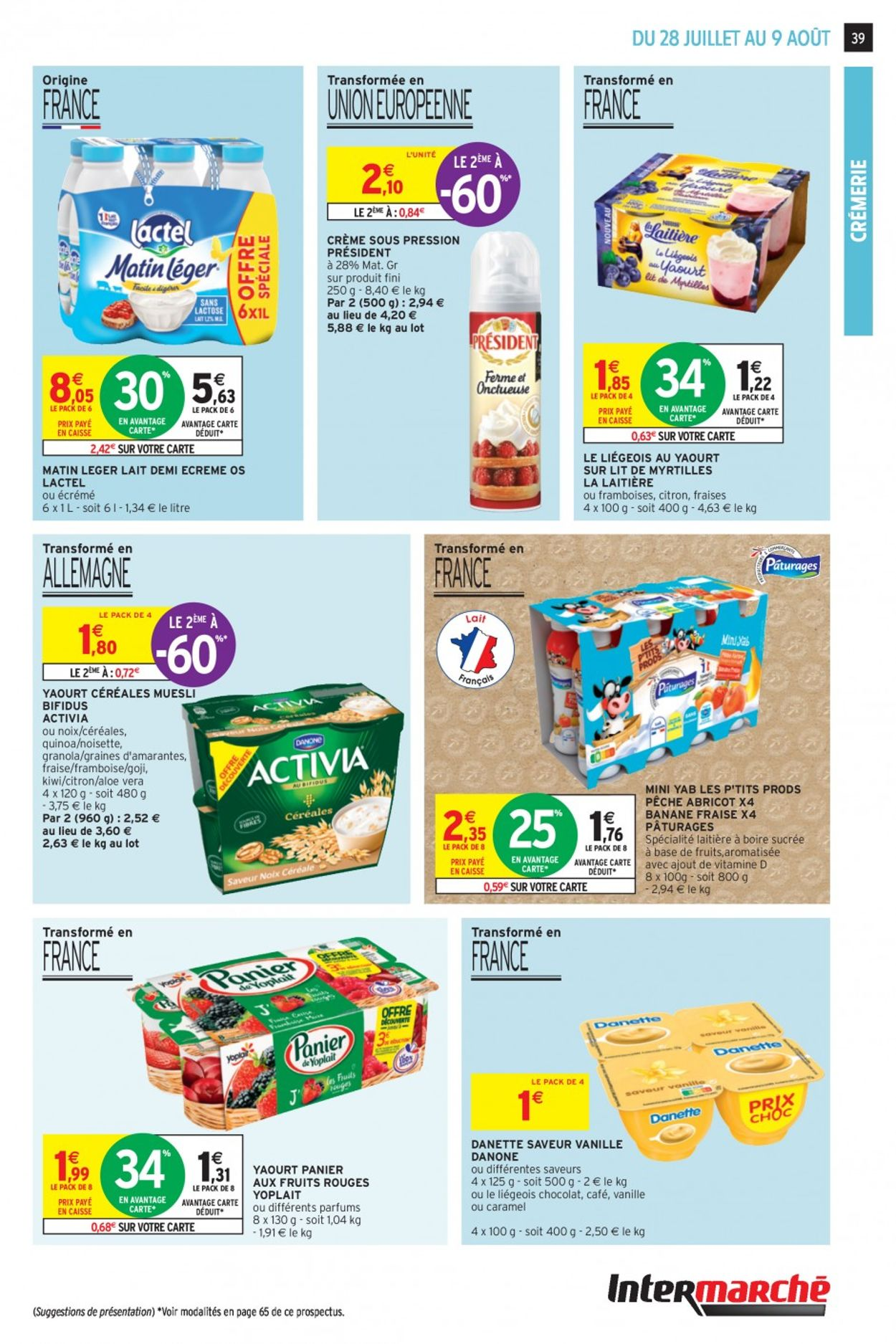 Intermarché Catalogue - 28.07-09.08.2020 (Page 39)