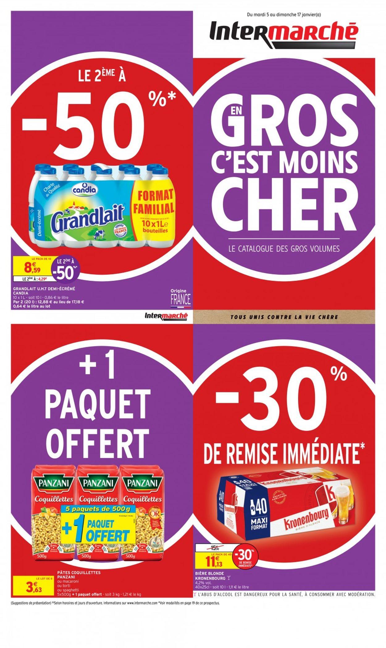 Intermarché En Gros Volume C'est Moins Cher 2021 Catalogue - 05.01-17.01.2021