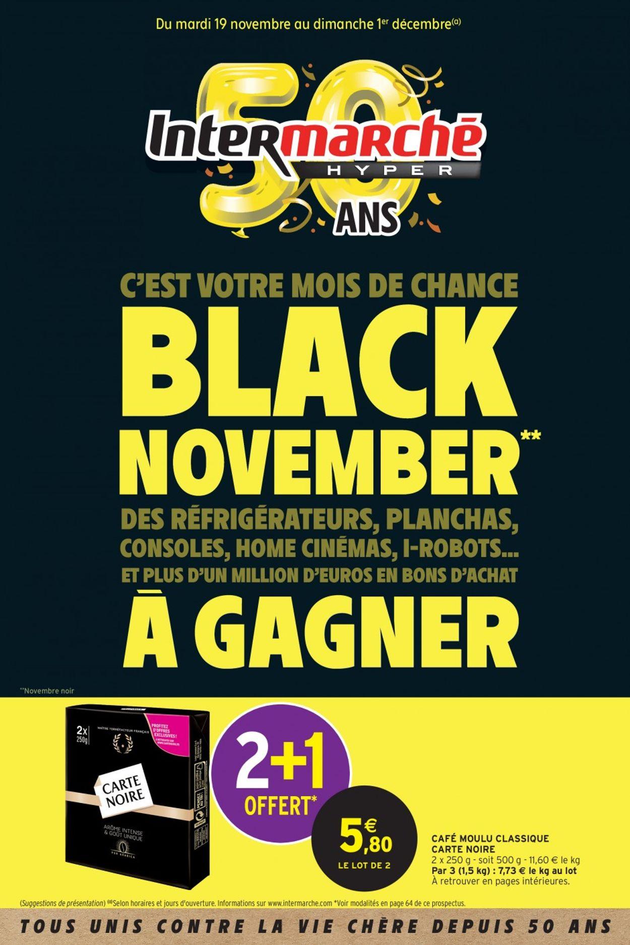 Intermarché - BLACK NOVEMBER 2019 Catalogue - 19.11-01.12.2019