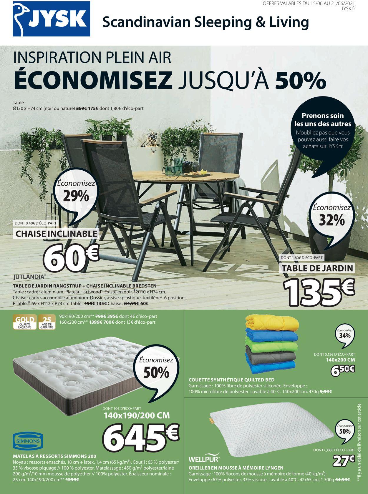 JYSK Catalogue - 15.06-21.06.2021