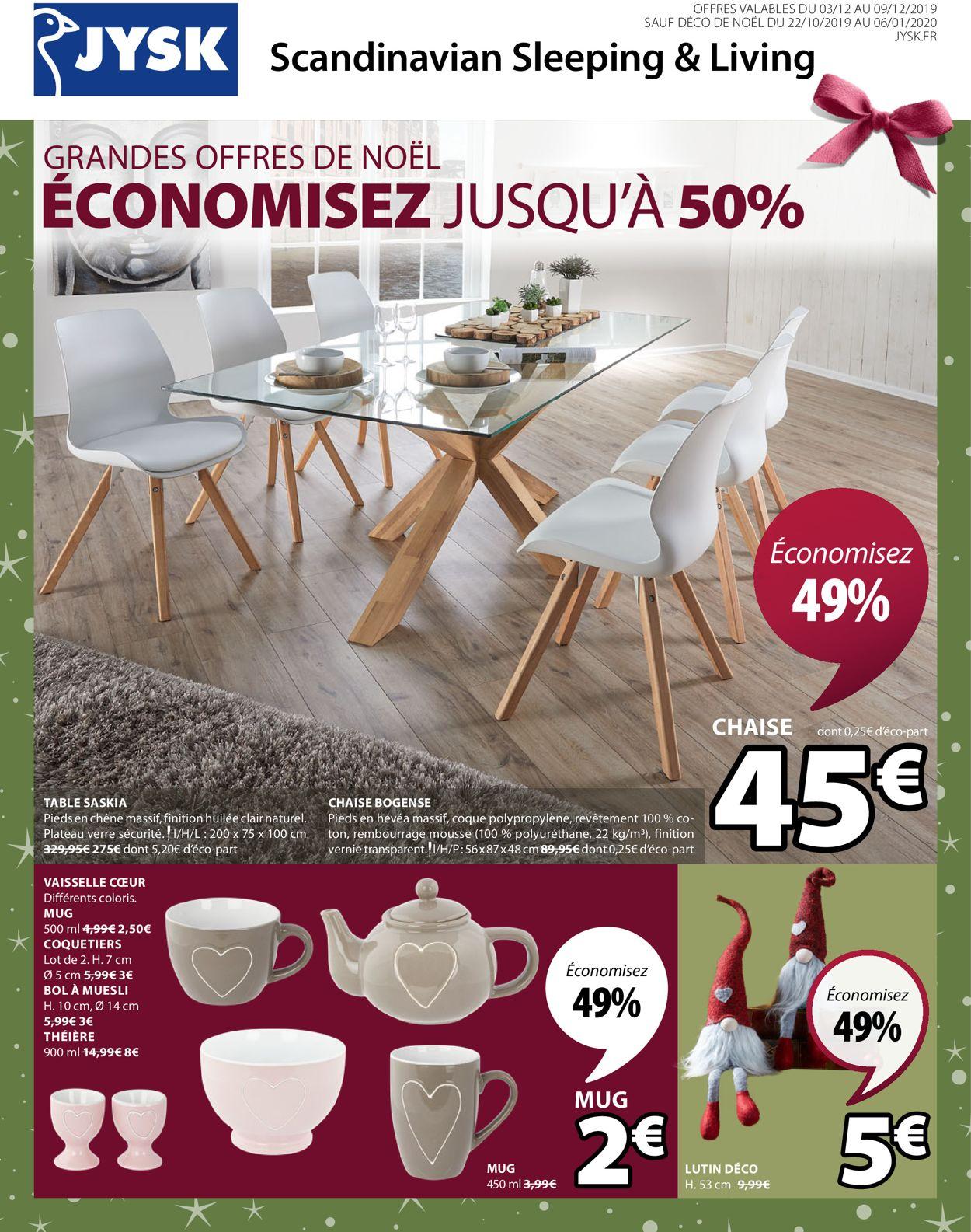 JYSK catalogue de Noël 2019 Catalogue - 03.12-09.12.2019