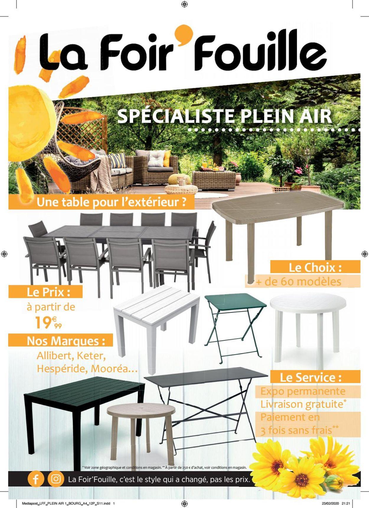 La Foir'Fouille Catalogue - 08.04-31.05.2020