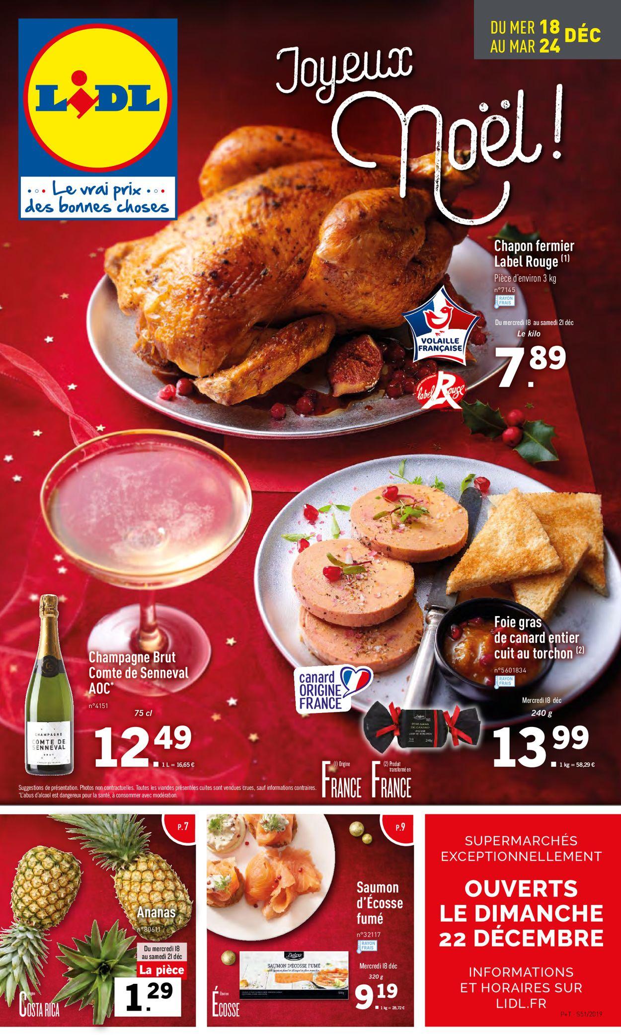 Lidl - catalogue de Noël 2019 Catalogue - 18.12-24.12.2019