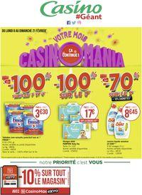 Géant Casino Votre mois Casinomania 2021