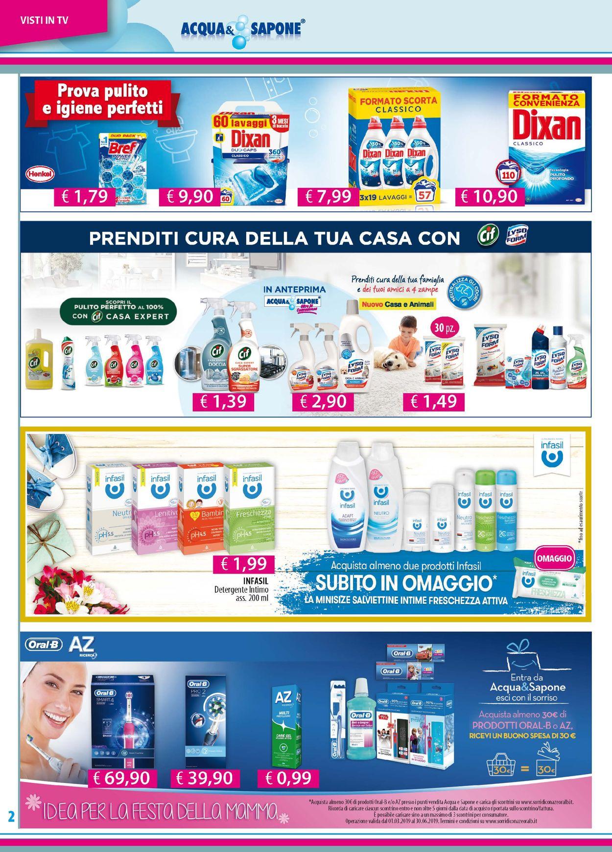 Volantino Acqua & Sapone - Offerte 07/05-26/05/2019 (Pagina 2)