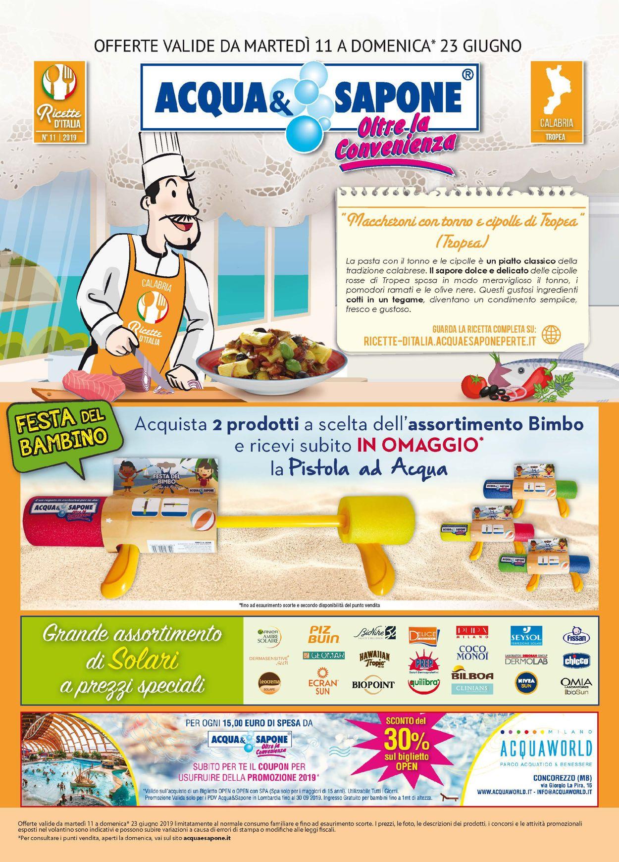 Volantino Acqua & Sapone - Offerte 11/06-23/06/2019