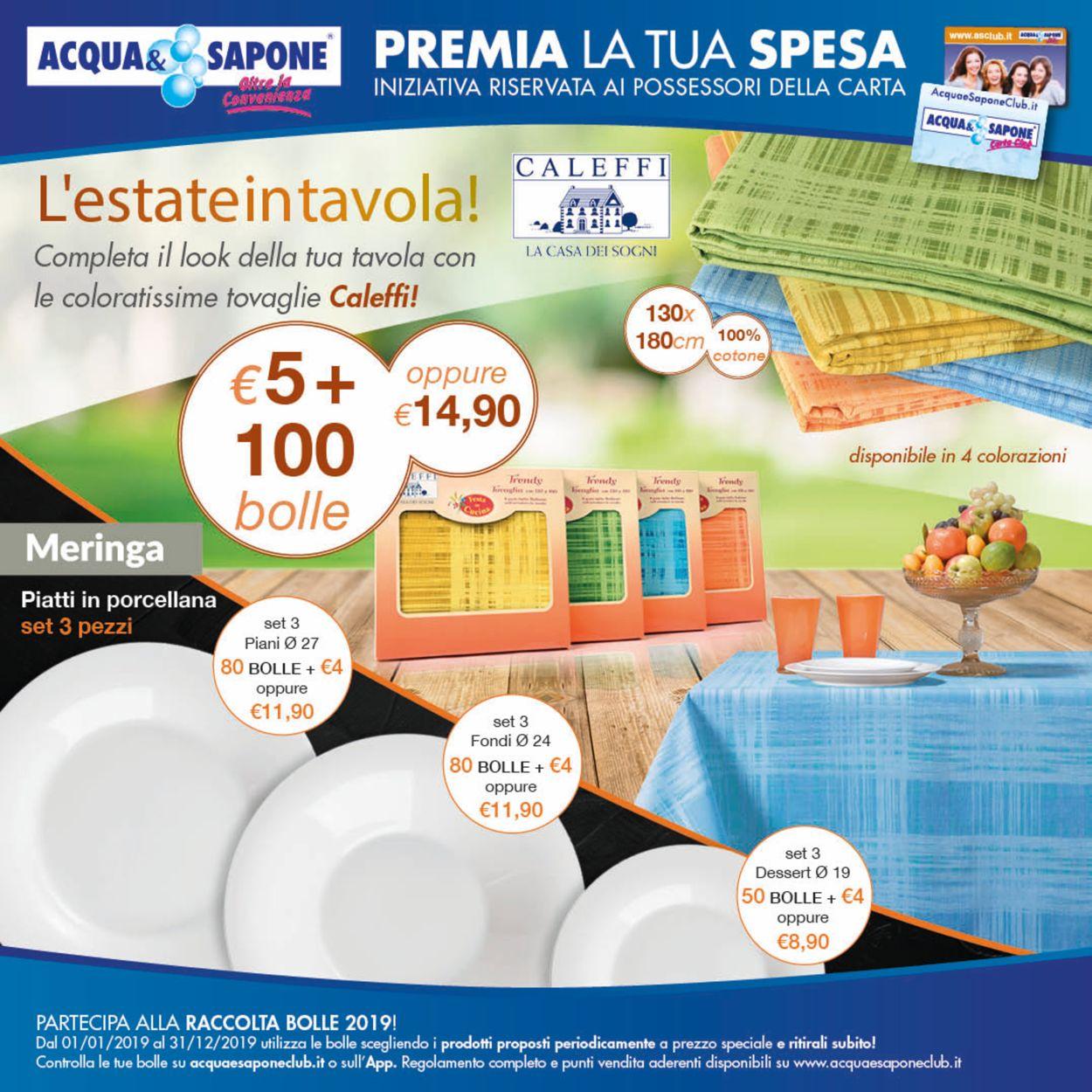 Volantino Acqua & Sapone - Offerte 01/01-31/12/2019