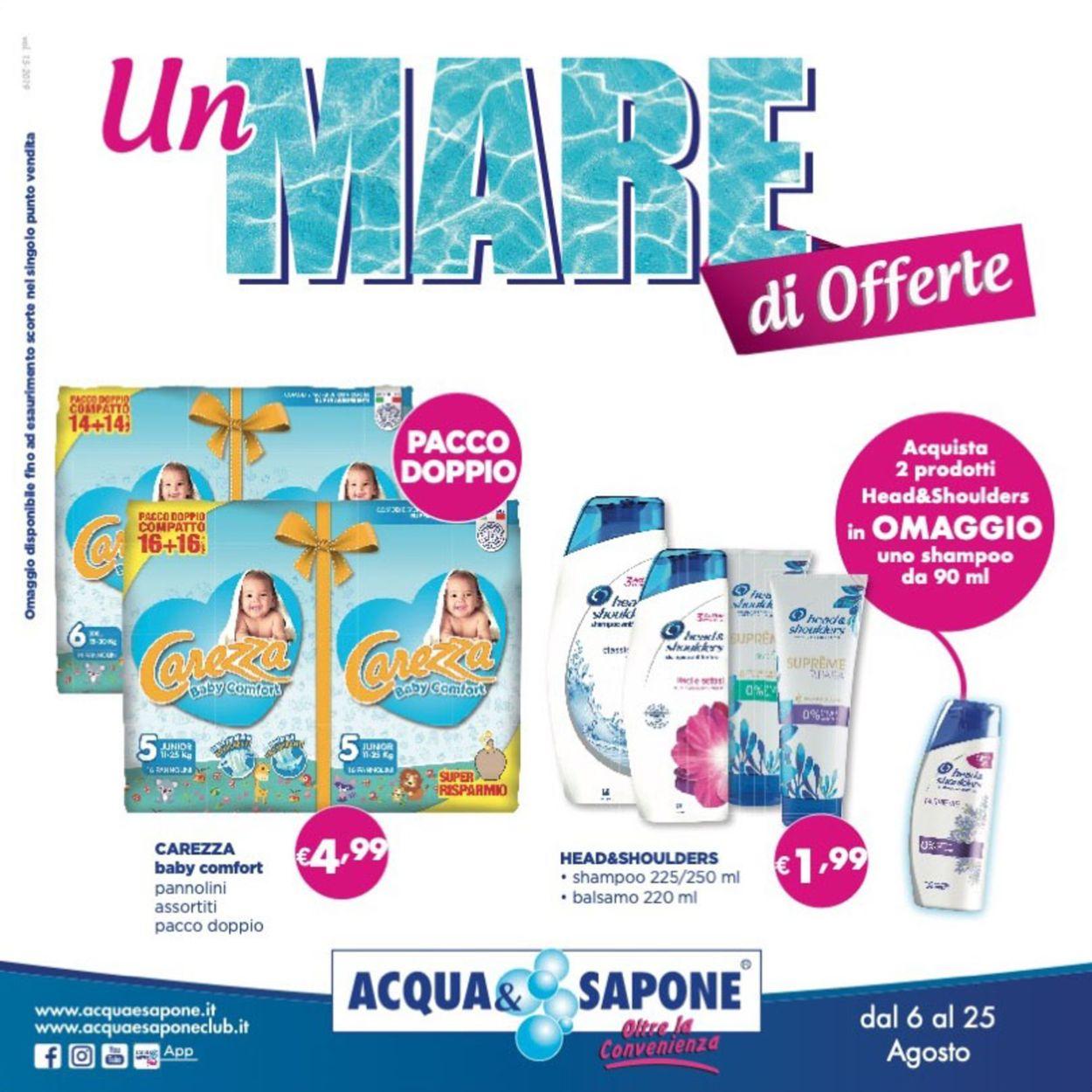 Volantino Acqua & Sapone - Offerte 06/08-25/08/2019