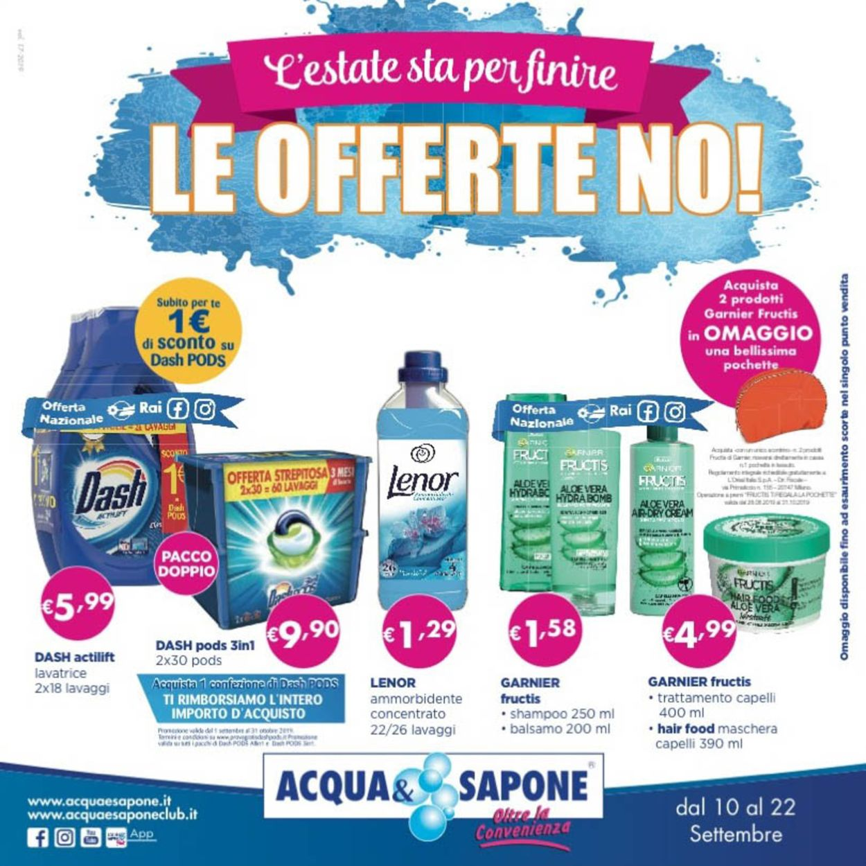 Volantino Acqua & Sapone - Offerte 10/09-22/09/2019