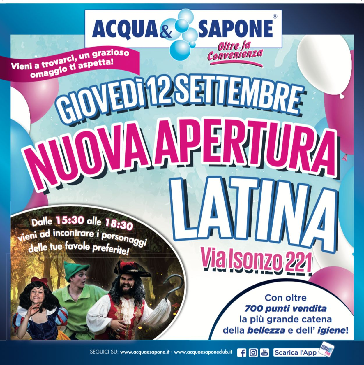 Volantino Acqua & Sapone - Offerte 12/09-15/09/2019