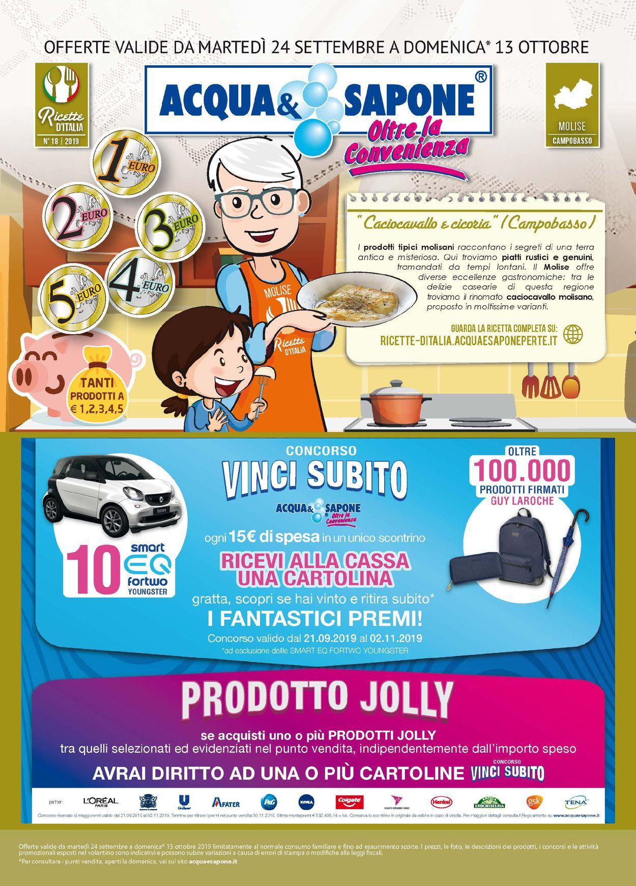 Volantino Acqua & Sapone - Offerte 24/09-13/10/2019