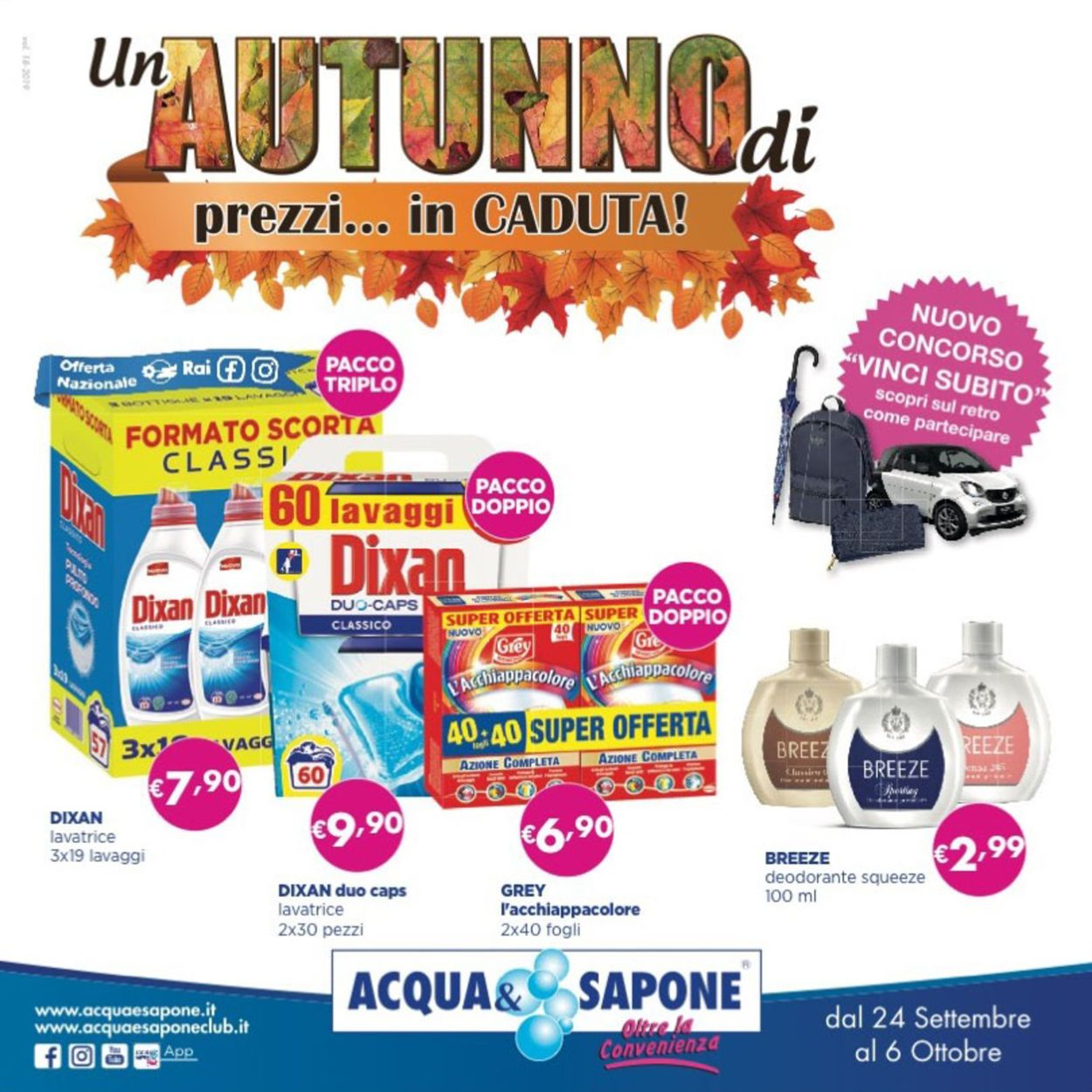 Volantino Acqua & Sapone - Offerte 24/09-06/10/2019