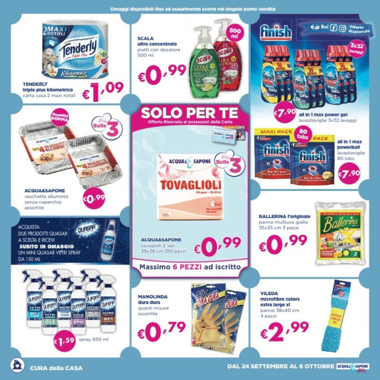 Volantino Acqua & Sapone - Offerte 24/09-06/10/2019 (Pagina 4)