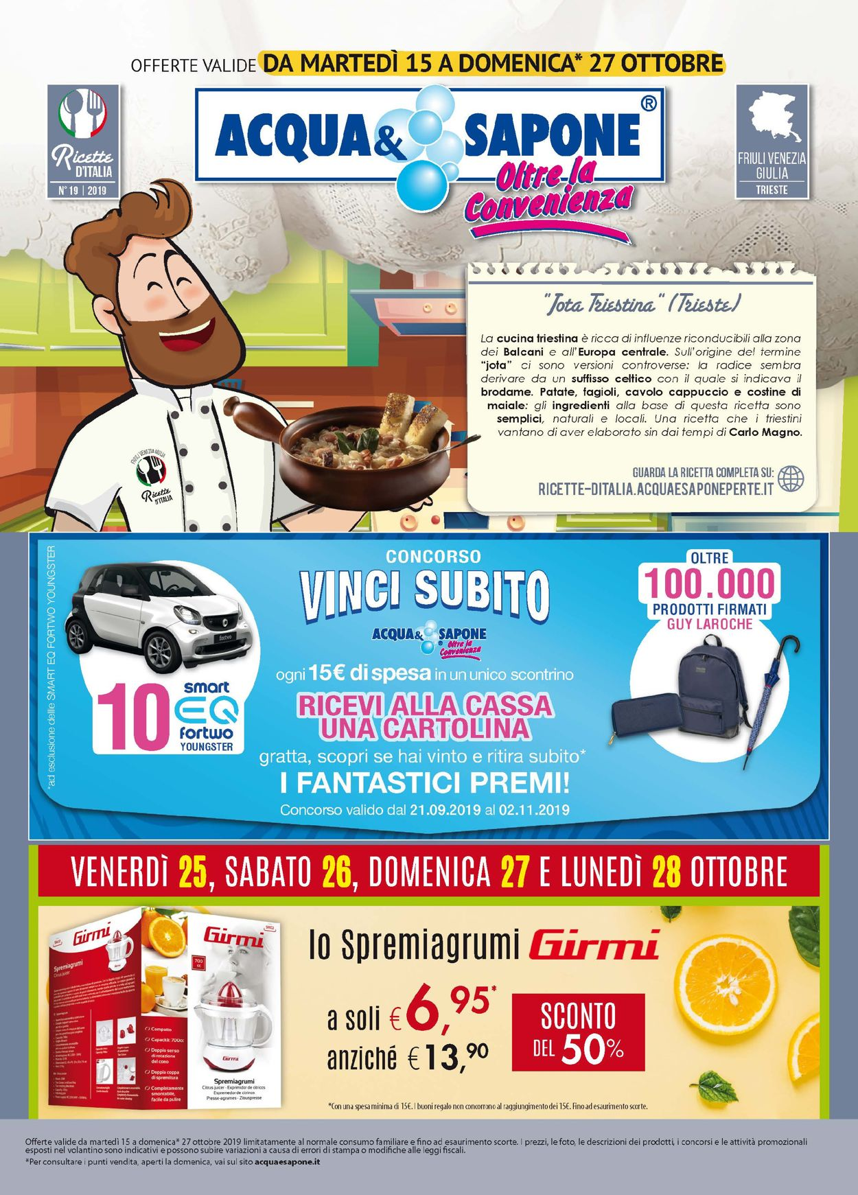 Volantino Acqua & Sapone - Offerte 15/10-27/10/2019
