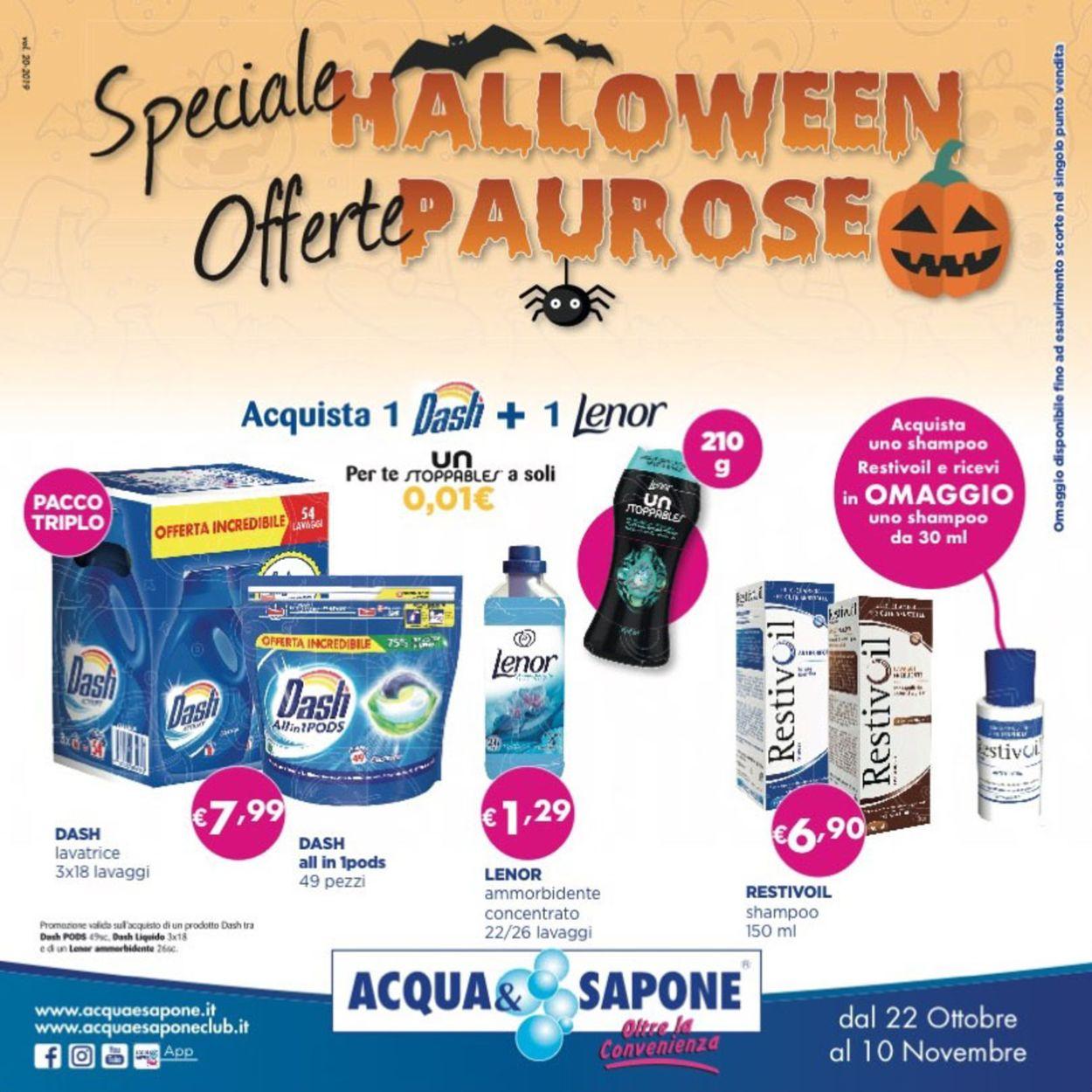 Volantino Acqua & Sapone - Offerte 22/10-10/11/2019