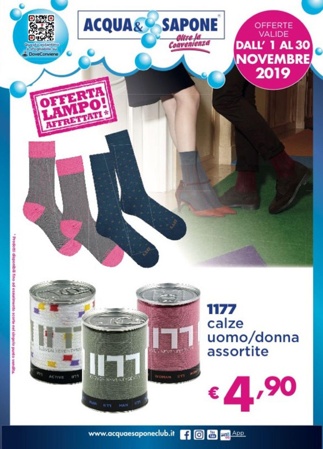 Volantino Acqua & Sapone - Offerte 01/11-30/11/2019