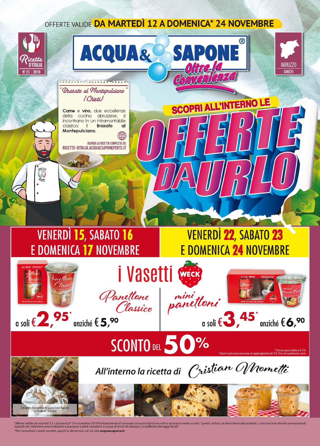 Volantino Acqua & Sapone - Offerte 12/11-24/11/2019