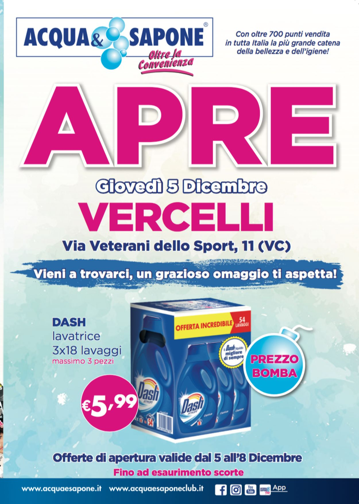 Volantino Acqua & Sapone - Offerte 05/12-08/12/2019