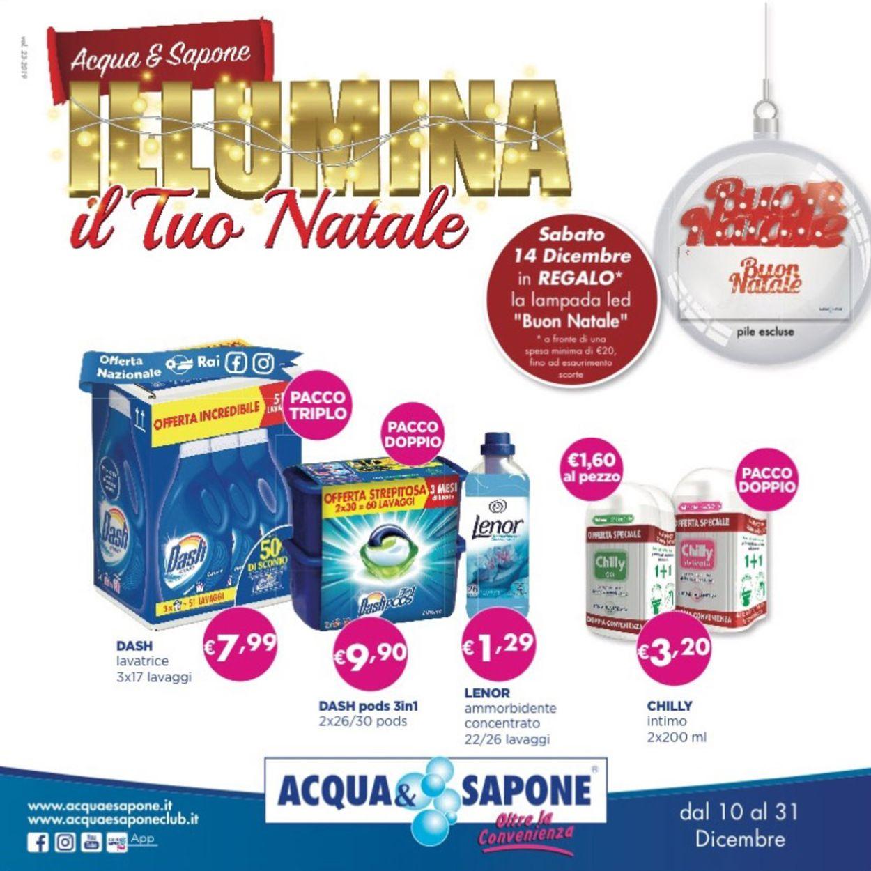 Volantino Il volantino natalizio di Acqua & Sapone - Offerte 10/12-31/12/2019