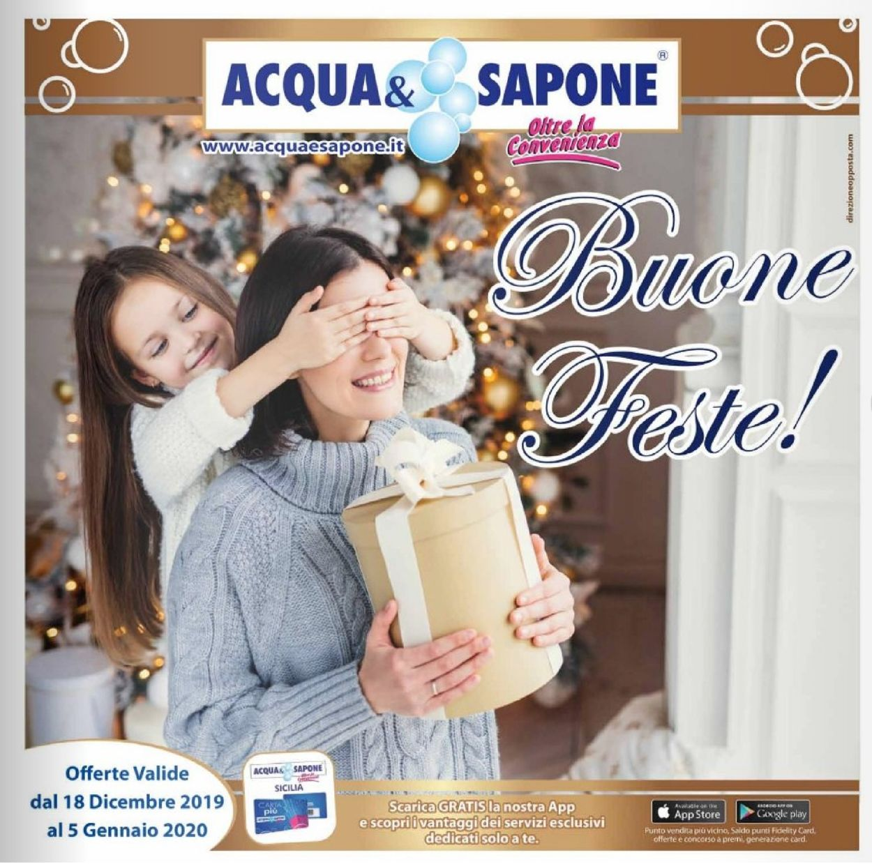 Volantino Acqua & Sapone - Offerte 18/12-05/01/2020