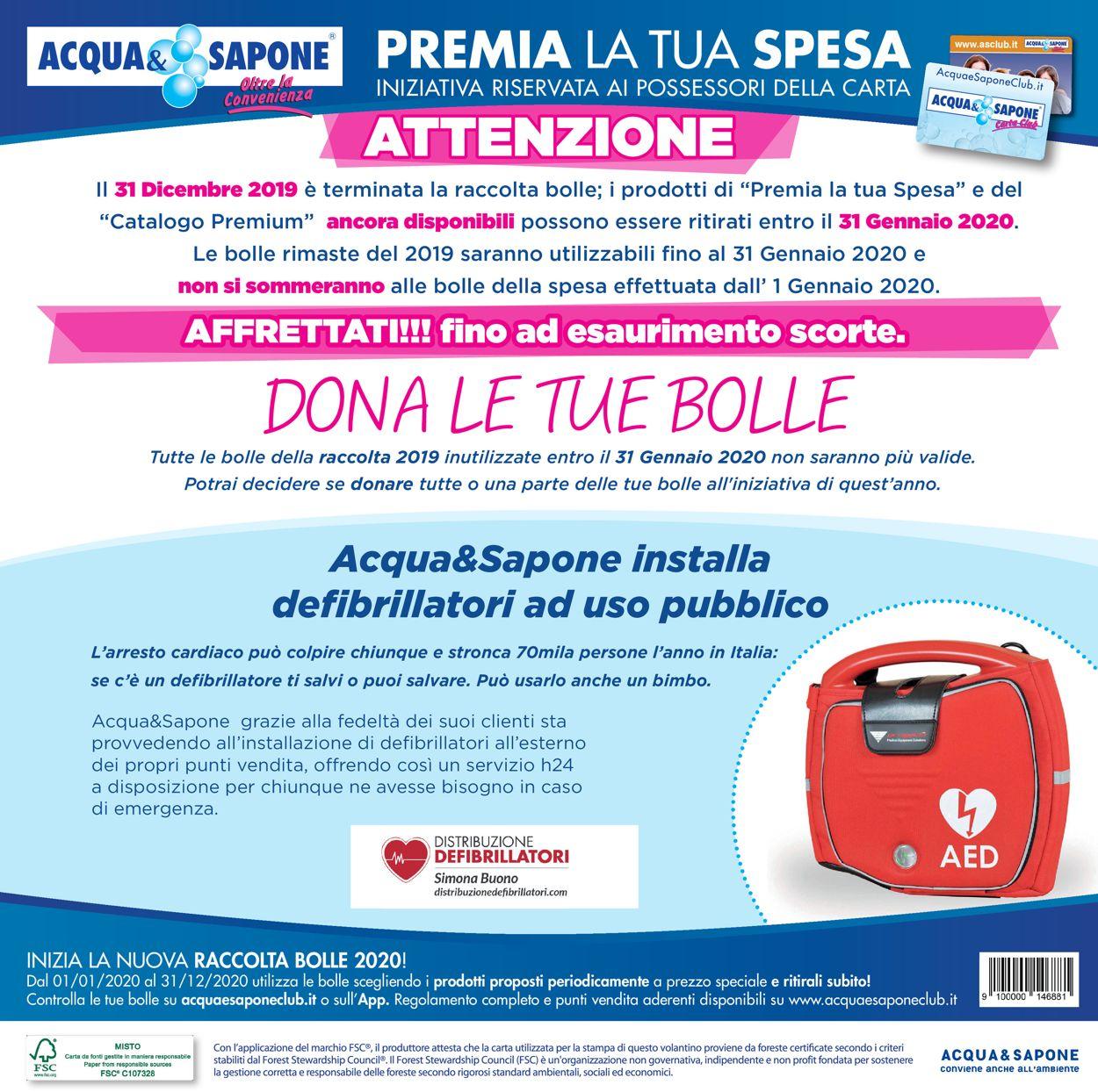 Volantino Acqua & Sapone - Offerte 02/01-19/01/2020