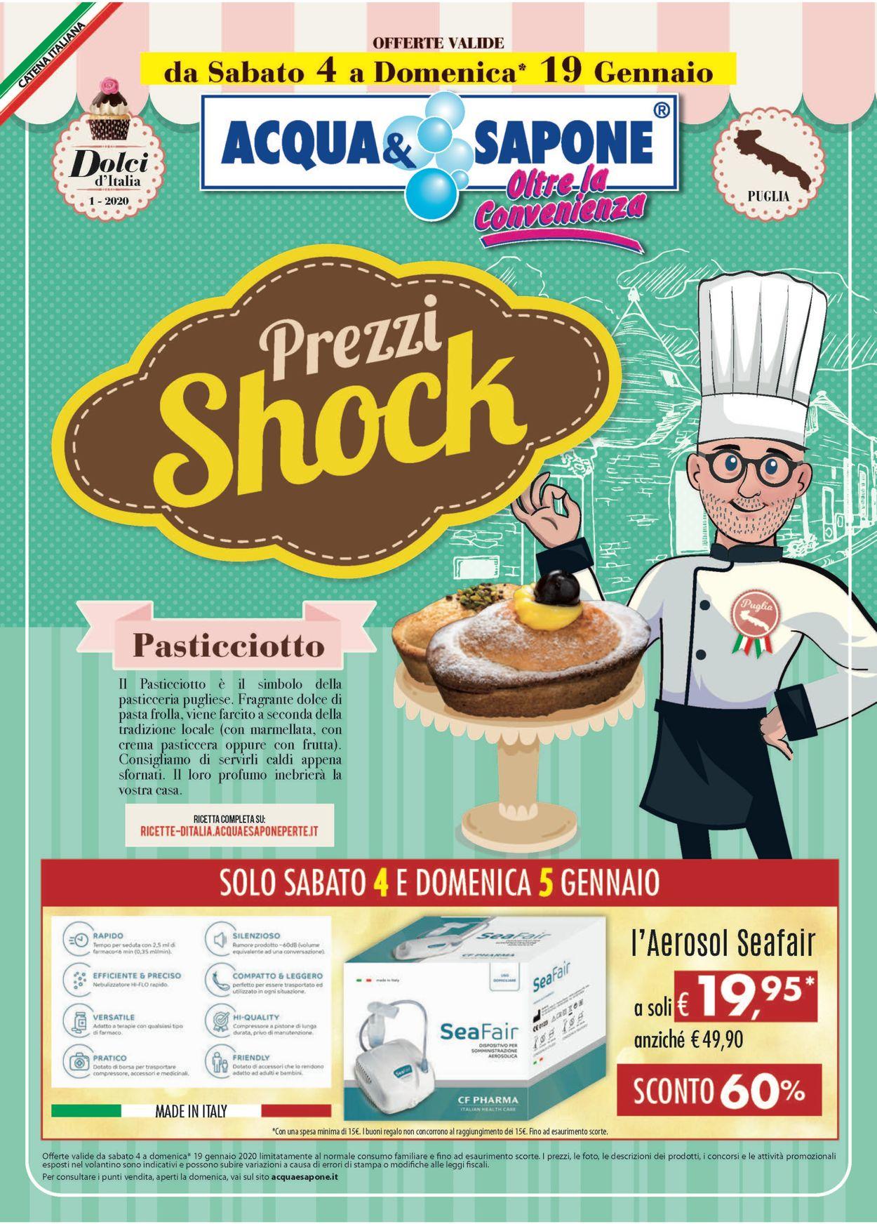 Volantino Acqua & Sapone - Offerte 04/01-19/01/2020