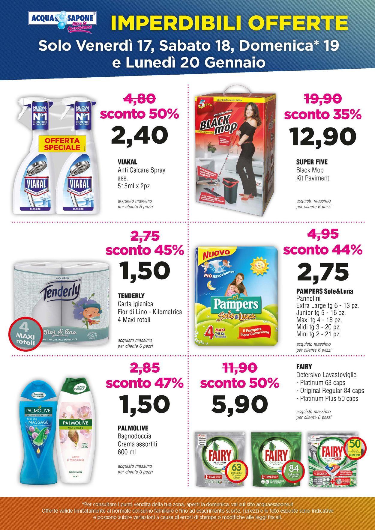 Volantino Acqua & Sapone - Offerte 17/01-20/01/2020