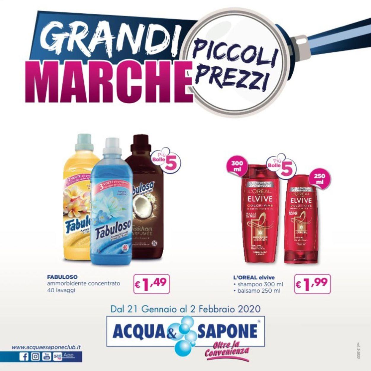 Volantino Acqua & Sapone - Offerte 21/01-02/02/2020