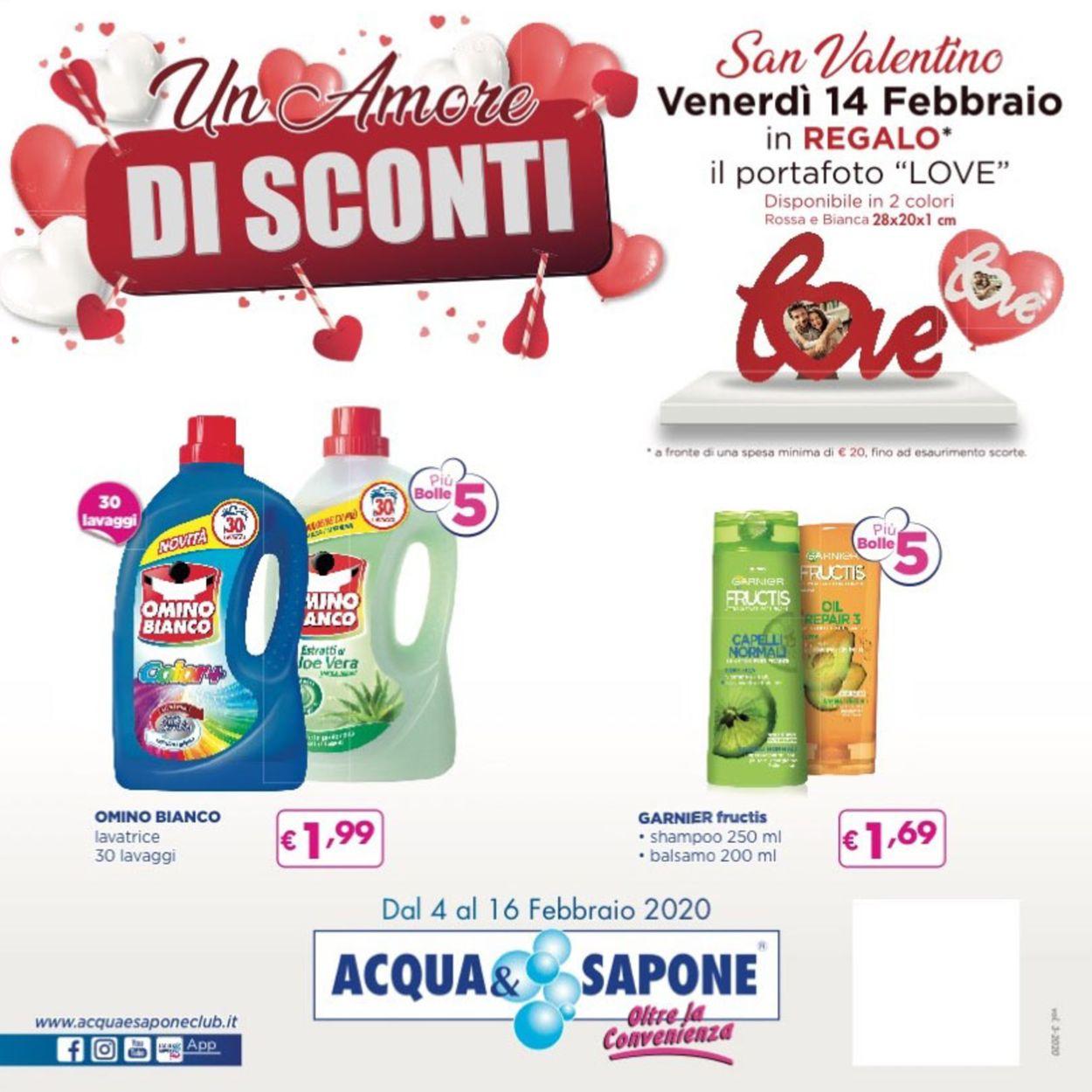 Volantino Acqua & Sapone - Offerte 04/02-16/02/2020