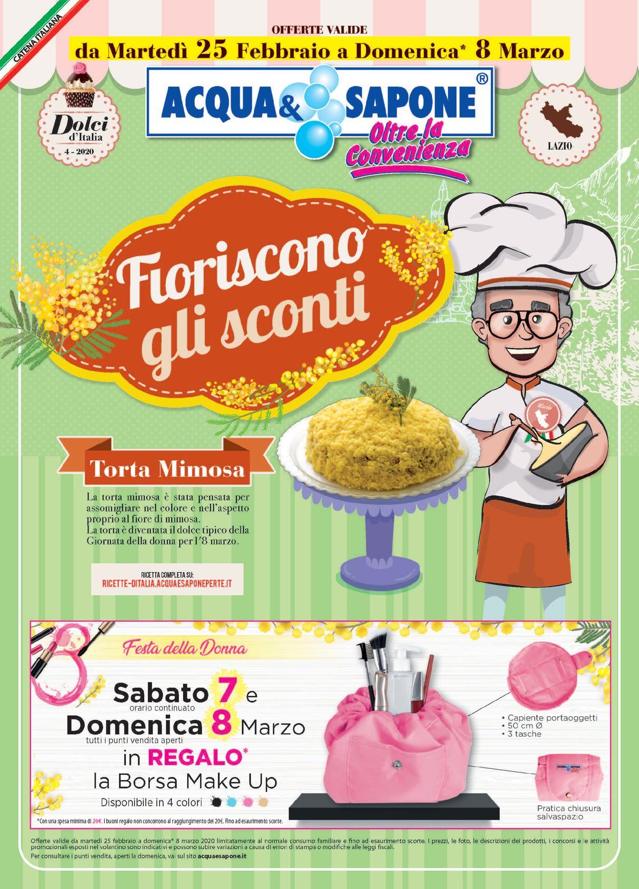 Volantino Acqua & Sapone - Offerte 25/02-08/03/2020