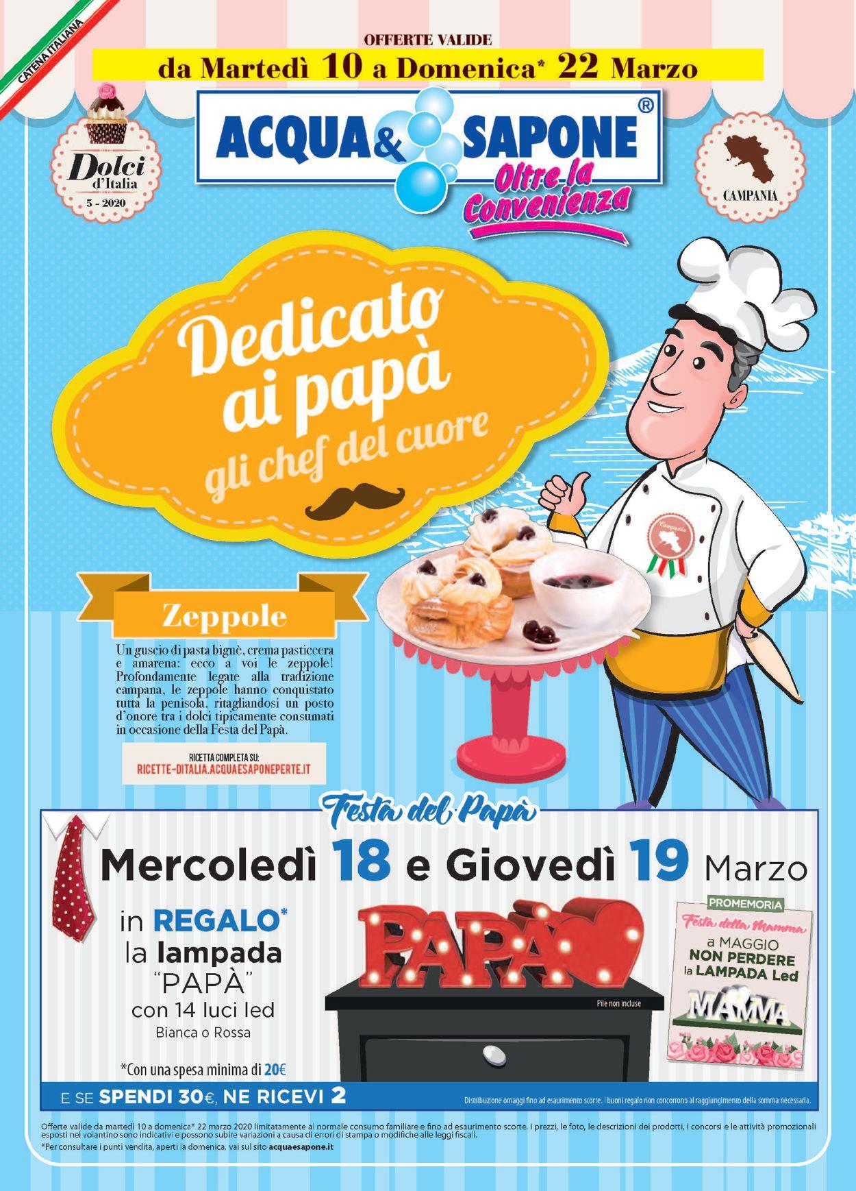 Volantino Acqua & Sapone - Offerte 10/03-22/03/2020