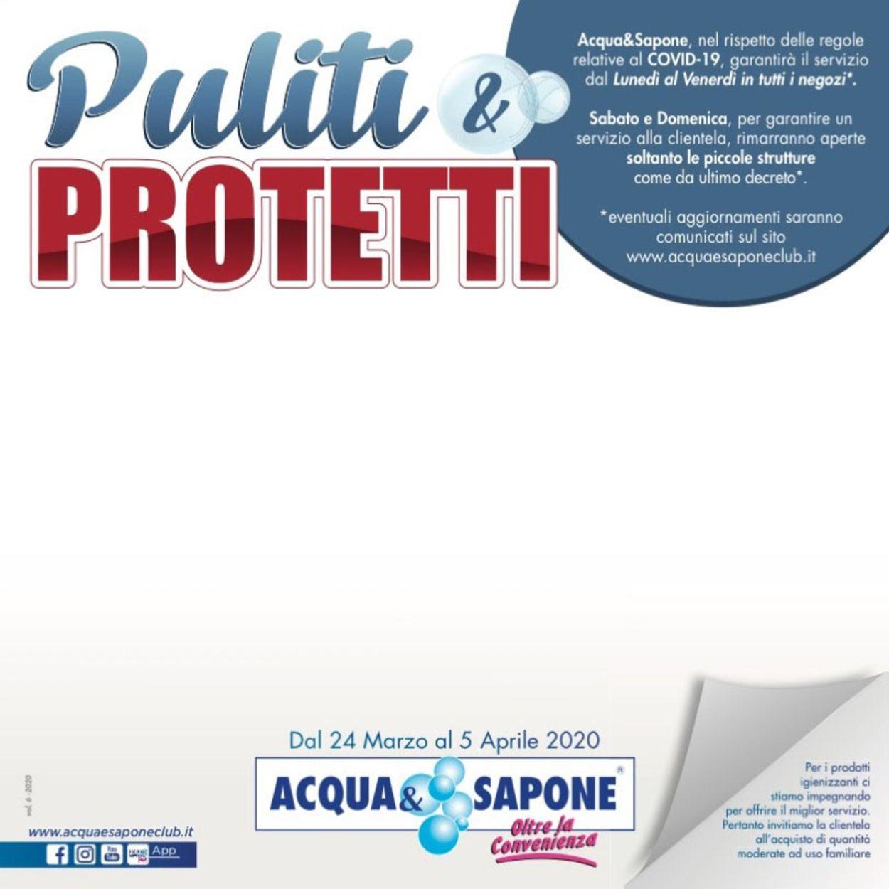 Volantino Acqua & Sapone - Offerte 24/03-05/04/2020