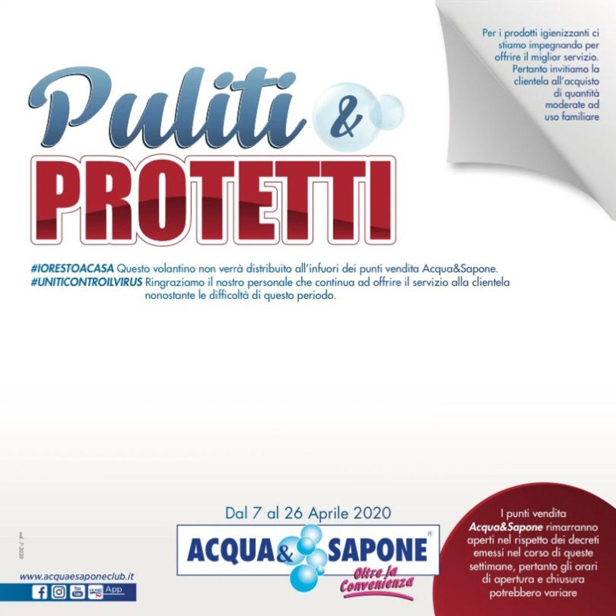 Volantino Acqua & Sapone - Offerte 07/04-26/04/2020